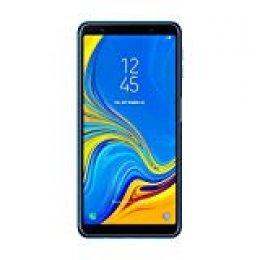 "Samsung Galaxy A7 - Smartphone de 6"" (Octa Core 2.2 GHz, RAM de 4 GB, Memoria de 64 GB, cámara de 24+5+8 MP, Android), Azul"