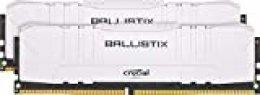 Crucial Ballistix BL2K8G32C16U4W 3200 MHz, DDR4, DRAM, Memoria Gamer para Ordenadores de sobremesa, 16GB (8GB x2), CL16, Blanco