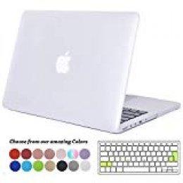 Tecool Funda para MacBook Pro 15 Pulgadas con Retina Display, Plástico Dura Case Mate Carcasa con Tapa del Teclado para 2013-2015 MacBook Pro 15 Retina (Modelo: A1398) -Mate Transparente