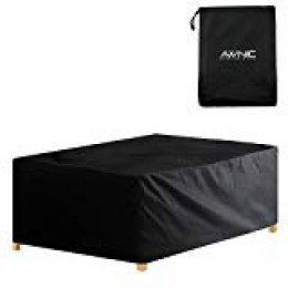 Awnic Funda de Muebles de Jardín Funda para Mesa Jardín Impermeable Resistente al Desgarro 210D Oxford 170X95X71cm