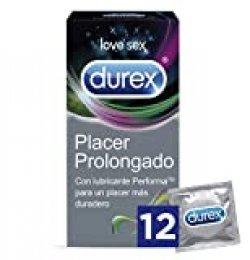 Durex Preservativos Placer Prolongado con Efecto Retardante - Total 12 Condones
