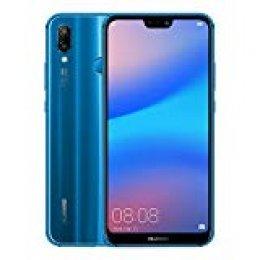 """Huawei P20 Lite - Pack de funda y smartphone de 5.84"""" (Octa-Core Kirin 659, RAM de 4 GB, memoria de 64 GB, cámara de 16+2 MP, Android 8) color azul [Exclusivo Amazon]"""