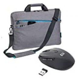 PEDEA Set 010-66063014 de la Manera Bolso del Ordenador portátil con el ratón 17,3 Pulgadas (43,9 cm) de Color Gris