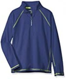 Amazon Essentials - Chaqueta deportiva con media cremallera para niño, Azul oscuro, US XL (EU 146 -152 CM)