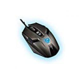 CoolBox Deep Speed - Ratón (Ambidextro, Óptico, USB, 4000 dpi, Negro)