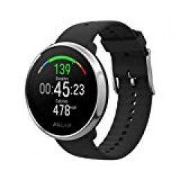 Polar Ignite - Reloj de fitness con GPS integrado, pulsómetro de muñeca, guías de entrenamiento - hombre/mujer - negro/plata M/L