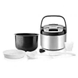 Taurus Top Cuisine Máquina de cocinar programable, cubeta extraíble 5 L, 12 Temporizador 24h, programas Especiales, Acero Inoxidable, Plata