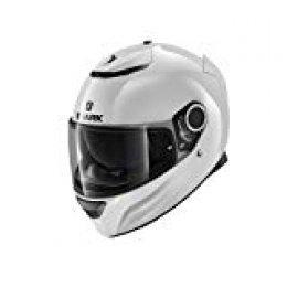 Shark Casco para moto Hark Spartan Blank, blanco, talla M