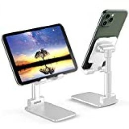 Soporte Teléfono Móvil Soporte Tableta Portátil Soporte Móvil Mesa Plegable Ajustable En Altura,Adecuado Para Dispositivos iPad 11 Pro, iPhone 11 Pro / XR / X / XS / 8 Plus De Menos De 12,9 Pulgadas