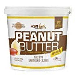 Mantequilla de Cacahuete de HSN | Textura Suave y Cremosa - Peanut Butter Smooth - 100% Natural | Apto Vegetariano, Sin grasa de palma, Sin grasa trans, Sin azúcar ni sal añadidos, 1000g