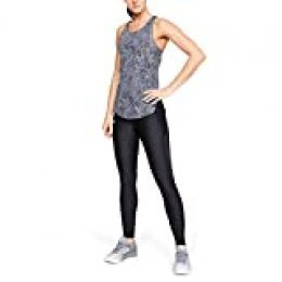 Under Armour Speed Stride Printed Tanque, Mujer, Gris (Downpour Gray/Downpour Gray/Reflective 044), M
