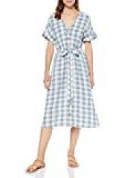 Springfield 9.T.Vestido Midi Cuadros Vestido, Gris (Gama Grises 48), 34 (Tamaño del Fabricante:34) para Mujer