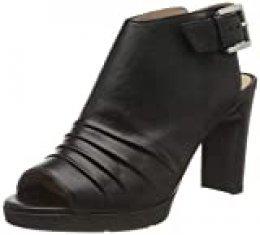 Geox D Annya High Sandal A, Sandalias con Punta Abierta para Mujer, Negro (Black C9999), 37 EU