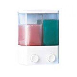Rayen 2020 - Dispensador de jabón, 2 Compartimentos Individuales, Color Blanco