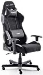 DX Racer 5 Robas Lund, - Silla de escritorio/oficina/ gaming, Negro/Gris, 74 x 52 x 123-132cm, madera, con ruedas, altura ajustable, tapizada, reposabrazos