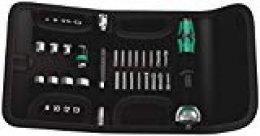 Wera 05051045001 Surtido de puntas, Negro, Cromo, Verde, 10.2 cm