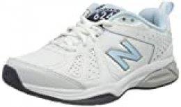 New Balance 624v5, Zapatillas Deportivas para Interior para Mujer, Blanco (White White), 44 EU