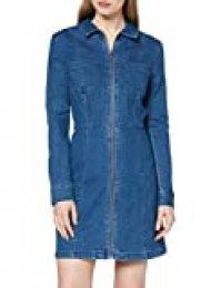 Noisy May NOS DE NMLISA Zip Dress SU00MB BG Noos Vestido, Azul (Azul Medium Blue Denim), XS para Mujer