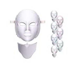 7 Color LED máscara Light Therapypara Cara y Cuello, LED Máscara Facial Rejuvenecimiento de la Piel Saludable