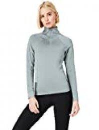 Activewear Camiseta Deporte Mujer, Gris (Mid Grey), 38 (Talla del Fabricante: Small)