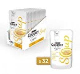 Gourmet Crystal Soup - Delicada Sopa con Pollo Natural, 40g, Paquete de 32 Unidades