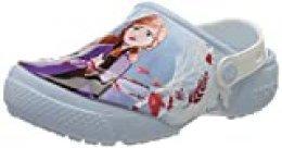 Crocs Funlab Disney Frozen 2 Clog Kids, Zuecos Unisex Niños, Azul (Mineral Blue 4jq), 34/35 EU
