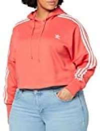 adidas Cropped Hood Sudadera, Mujer, Rojo (Trace Scarlet s18/ White), 40