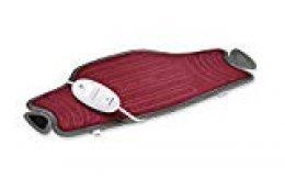 Beurer HK 55 - Almohadilla electrónica cervical/lumbar, 59 x 30 cm, lavable, color rojo