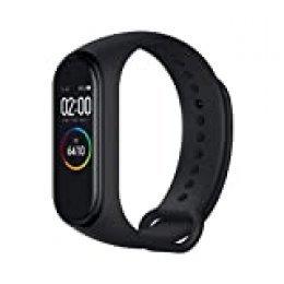 Xiaomi Band 4 Pulsera de Fitness Inteligente Monitor de Ritmo cardíaco 135 mAh Pantalla Color Bluetooth 5.0 más Reciente 2019, Negro