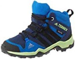 adidas Terrex Ax2r Mid CP K, Zapatillas para Carreras de montaña Unisex Niños, Collegiate Navy Core Black Glory Blue, 32 EU