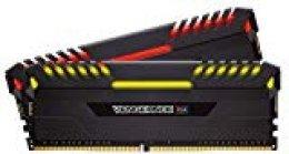 Corsair Vengeance RGB - Kit de memoria Entusiasta de 16 GB (2 x 8 GB, DDR4, 4000 MHz, C19, XMP 2.0) negro
