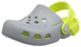 Crocs Electro Kids, Zuecos Unisex Niños, Gris (Light Grey/Citrus), 20/21 EU
