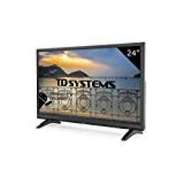 TD Systems K24DLM8HS - Televisor Led 24 Pulgadas HD Smart, resolución 1366 x 768, 2X HDMI, VGA, 2X USB, Smart TV.