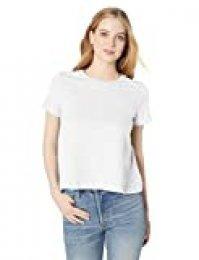 Marca Amazon - Daily Ritual - Camiseta ligera de algodón ablandado, con vuelo y manga corta para mujer