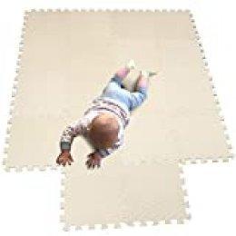 MQIAOHAM juego de enclavamiento juego de bebé tapetes para niños tapetes para niños foammats playmats estera del rompecabezas bebé 18 piezas niños tapete tapete tapete Beige Frutaverde 110115