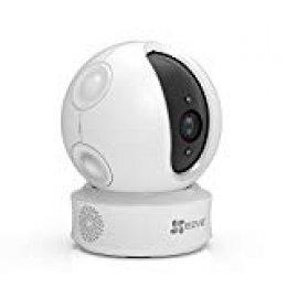 EZVIZ ez360 720p Cámara de Seguridad Pan/Tilt wifi con Visión Nocturna, Audio Bidireccional, Máscara de Privacidad Inteligente, Servicio de Nube Disponible, Compatible con Alexa, Google home y IFTTT
