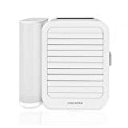 Microhoo Aire Acondicionado Personal Mini Refrigerador de Aire Humidificador Evaporativo Purificador 99 Velocidades Ventilador Eléctrico Portátil de Escritorio