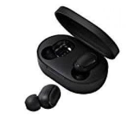 Xiaomi Redmi Airdots - Auriculares inalámbricos (Bluetooth, estuche de carga magnética, micrófono), color negro