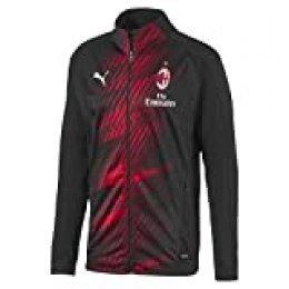 PUMA ACM Stadium Jacket W. Sponsor Chaqueta De Entrenamiento, Hombre, Black-Tango Red, M