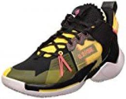 Jordan Why Not Zer0.2 Se, Zapatillas de Baloncesto para Hombre, Black/Flash Crimson/Amarillo/Vast Grey, 42 EU