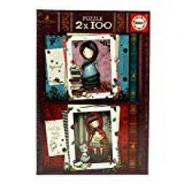 Educa - Little Red Riding Hood y Rapunzel Gorjuss, 2 Puzzles infantiles de 100 piezas, a partir de 6 años (17822)
