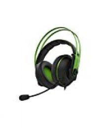 ASUS Cerberus V2 - Auriculares de gaming (con micrófono, cable de 1.5 metros, ASUS Essence, imanes de neodimio de 53 mm, sensibilidad de -40 db) color verde