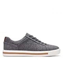 Clarks Un Maui Lace, Zapatillas para Mujer, Gris (Grey Textile Grey Textile), 35.5 EU