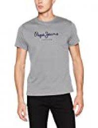 Pepe Jeans Eggo PM500465 Camiseta, Gris (Grey Marl 933), Large para Hombre