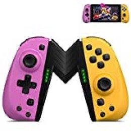 ECHTPower Mando para Nintendo Switch, Bluetooth Wireless Controller joycon Controlador De Reemplazo Izquierdo y Derecho para Joycon-Soporta Turbo/Vibración/Giroscopio/un Botón Programable