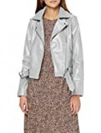 New Look Faith Belted PU Biker Chaqueta para Mujer