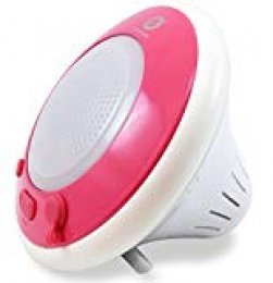 Conceptronic Floating Speaker - Altavoces portátil de 3 W (4 Ohmios, 83 dB, 3.5 mm), Rosa