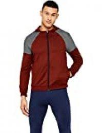 Activewear Sudadera Técnica con Capucha Hombre, Rojo (Oxblood/mid Grey), Medium