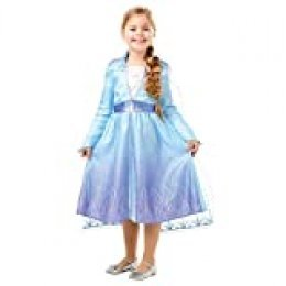 Disney, Elsa Travel Frozen2 Classic - Disfraz de Elsa Travel, Multicolor, L (7-8 años)