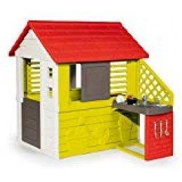 Smoby- Casa Infantil Nature II con Cocina y Accesorios (810713), Color Verde (